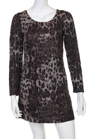Стильная леопардовая туника с длинным рукавом