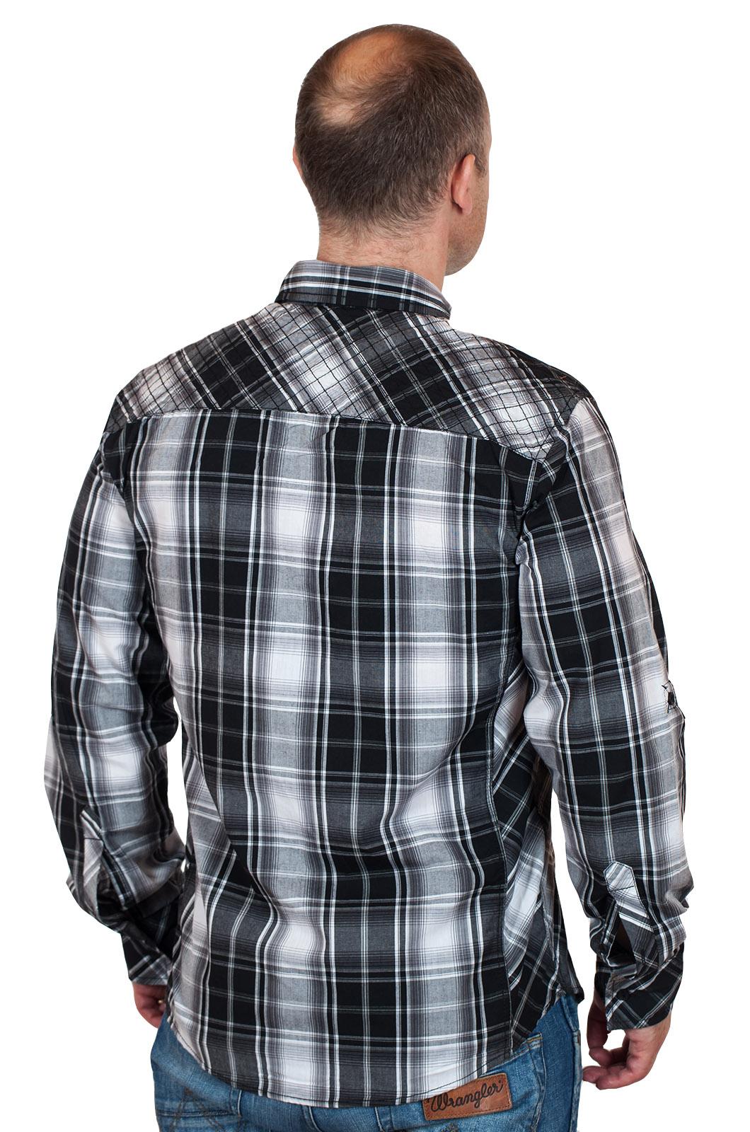 Стильная летняя мужская рубашка Surplus - вид сзади