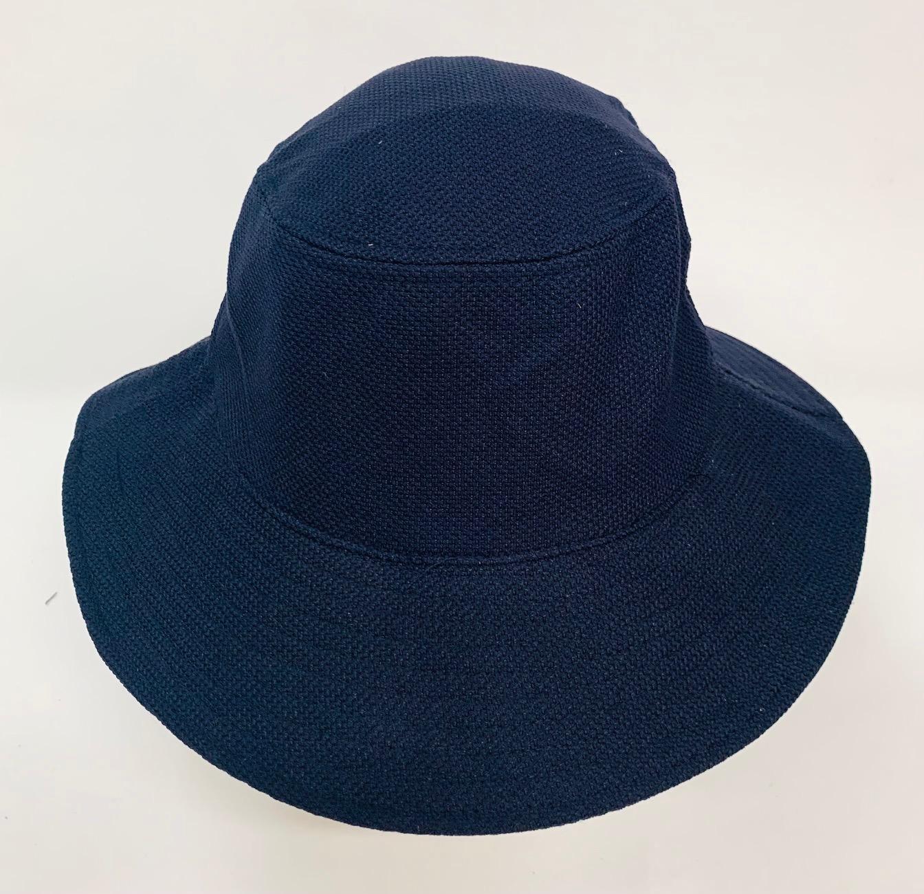 Стильная летняя панама глубокого синего цвета