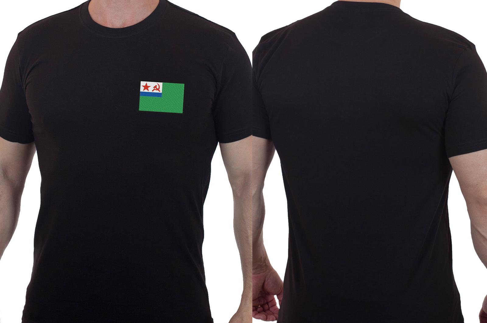 Стильная милитари футболка с вышитым шевроном Морчасти Погранвойск СССР - купить оптом