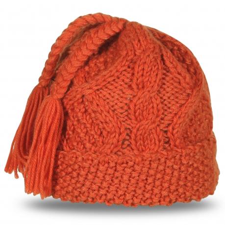 Стильная молодежная шапка крупкой вязки. Тепло и комфорт гарантированы!