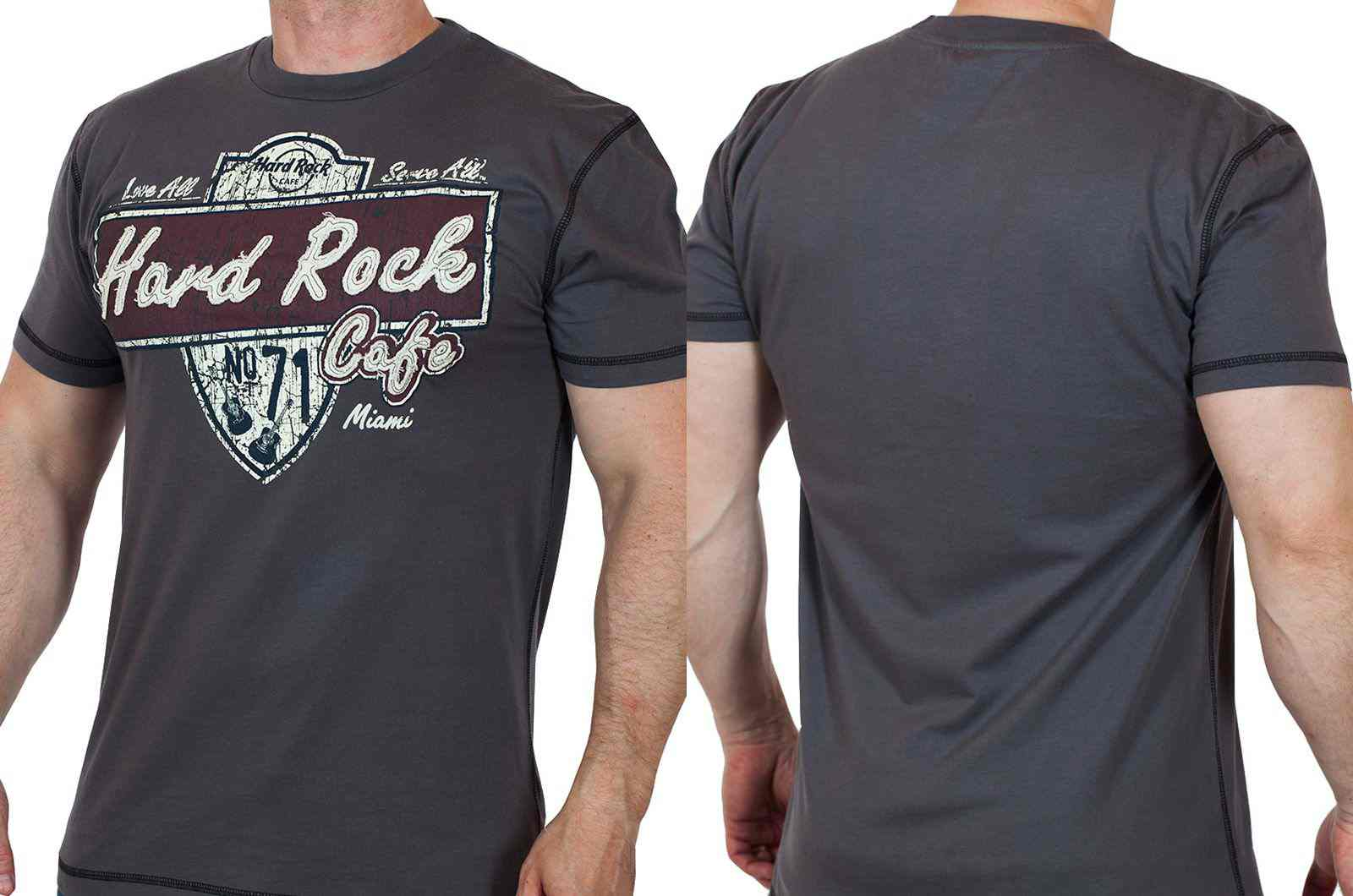 Стильная мужская футболка Hard Rock® Miami-двойная