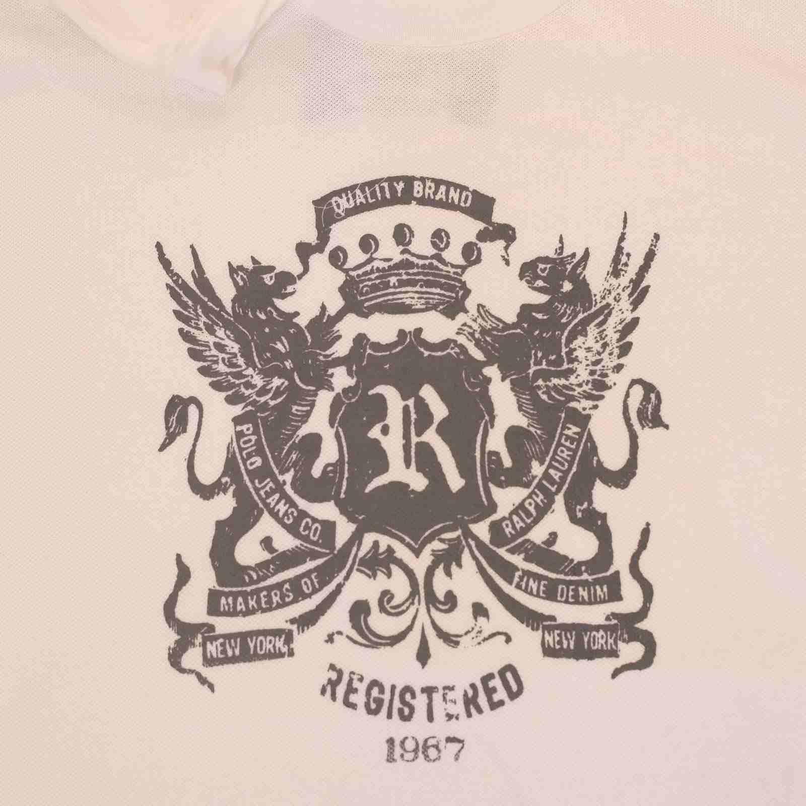 Стильная мужская футболка от американского бренда Ralph Lauren-принт