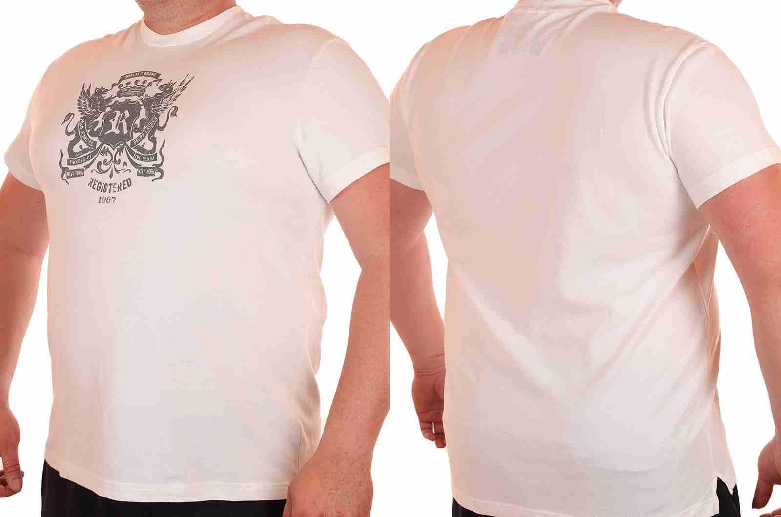 Стильная мужская футболка от американского бренда Ralph Lauren-двойной ракурс