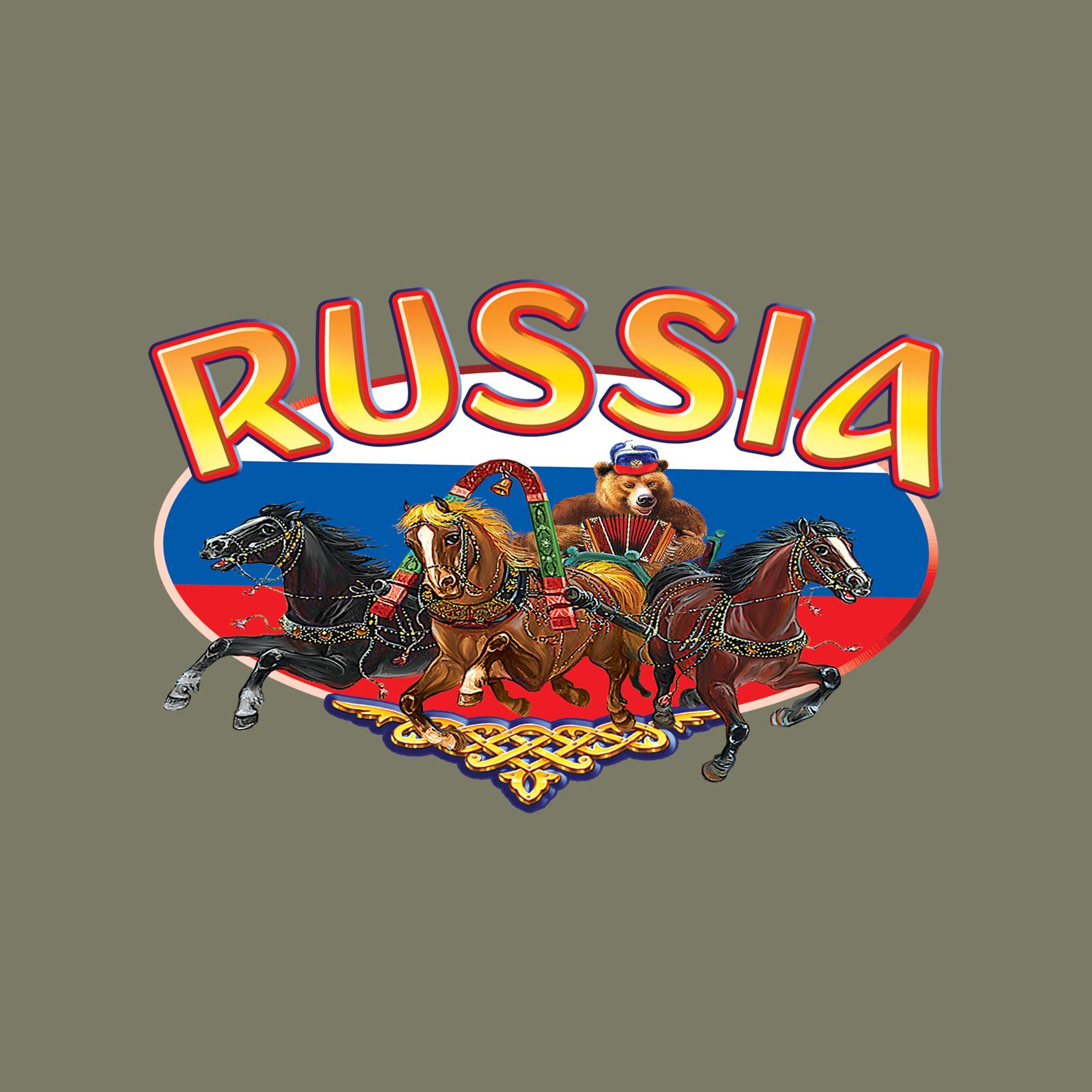 """Стильная мужская футболка """"Россия"""" - заказать онлайн"""