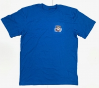 Стильная мужская футболка Звезда Рыбака василькового цвета
