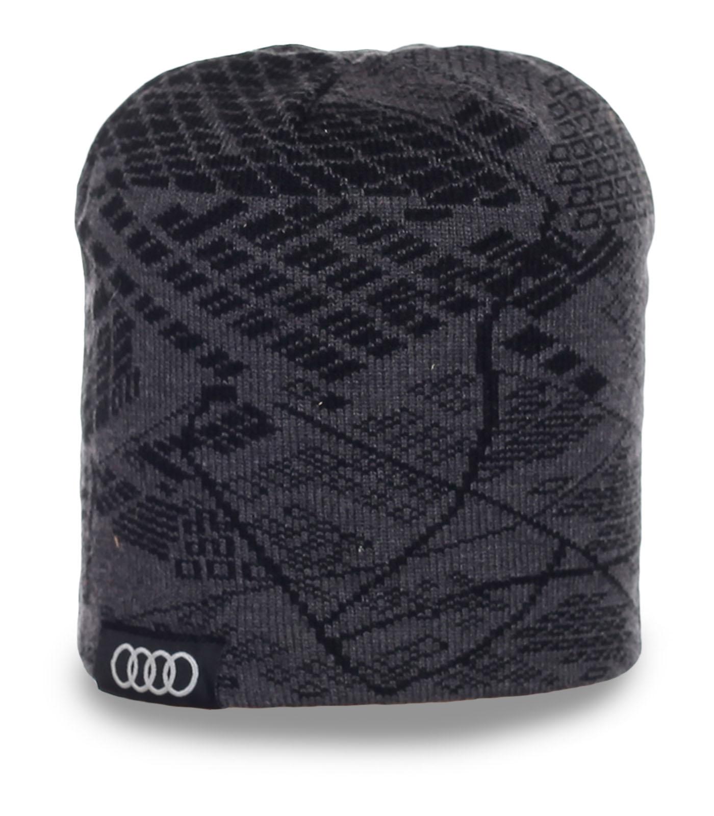Стильная мужская шапка премиум – класса Ауди эксклюзивный дизайн