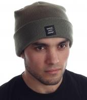 Стильная мужская шапка с патчем бренда Herschel Supply Co.