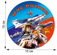 Стильная наклейка на авто спасателя МЧС России