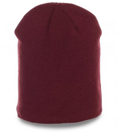 Стильная неприхотливая зимняя мужская шапка бини молодежный аксессуар