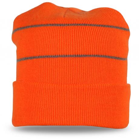 Стильная оранжевая шапка