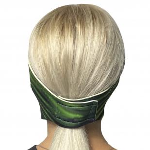 Стильная полнолицевая маска с защитой от коронавируса Wild Wear Swamp Thing