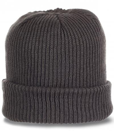 Стильная повседневная мужская шапочка с широким отворотом от O