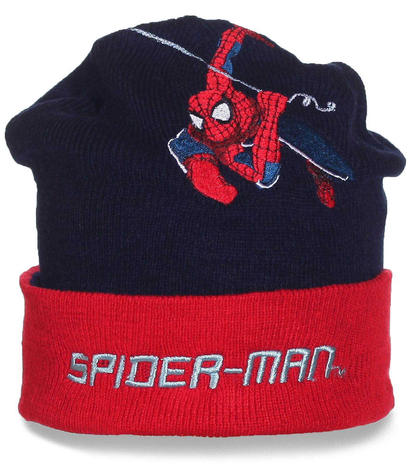Стильная шапка Spider-man. Будь в центре внимания!