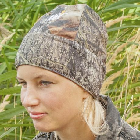 Стильная женская шапка SUY в фотореалистичном камуфляже Realtree