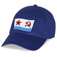 Стильная синяя бейсболка с нашивкой ВМФ СССР