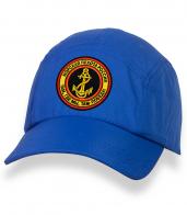 Стильная синяя кепка-пятипанелька с нашивкой МОРПЕХ