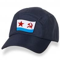 Стильная темно-синяя бейсболка с нашивкой ВМФ СССР