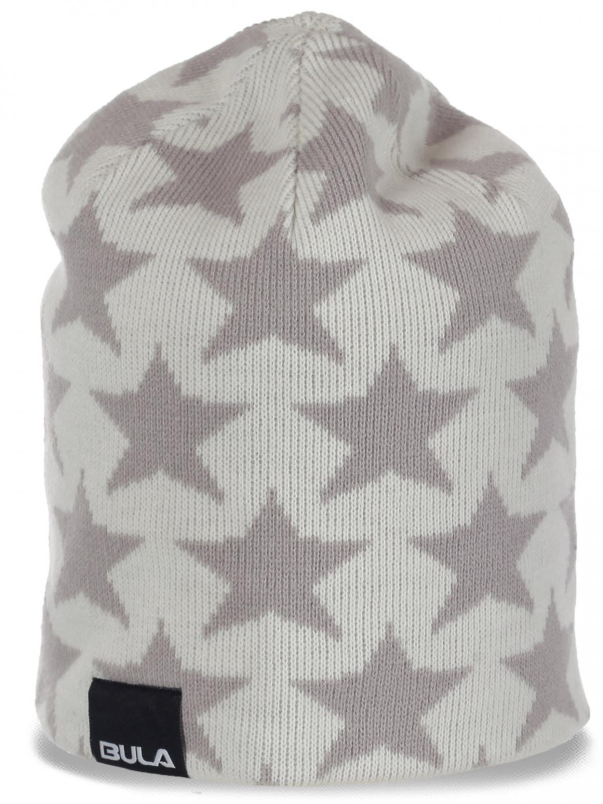 Стильная трикотажная женская шапка бини бренда Bula новомодный лучший звездный вариант