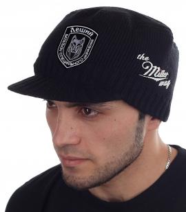 Стильная вязаная шапка-кепка от Miller Way - заказать оптом