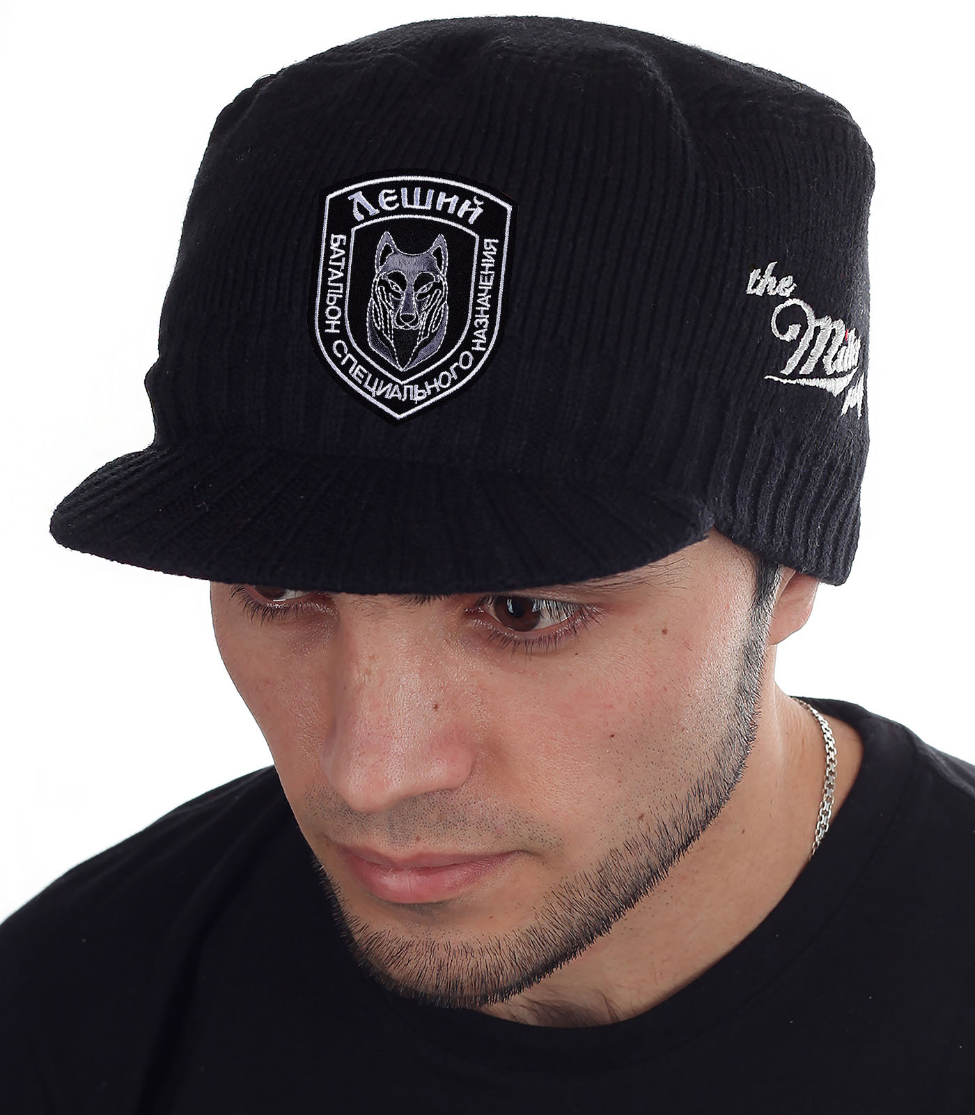 Стильная вязаная шапка-кепка от Miller Way  заказать в розницу