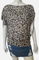 Стильная женская кофточка с леопардовым принтом