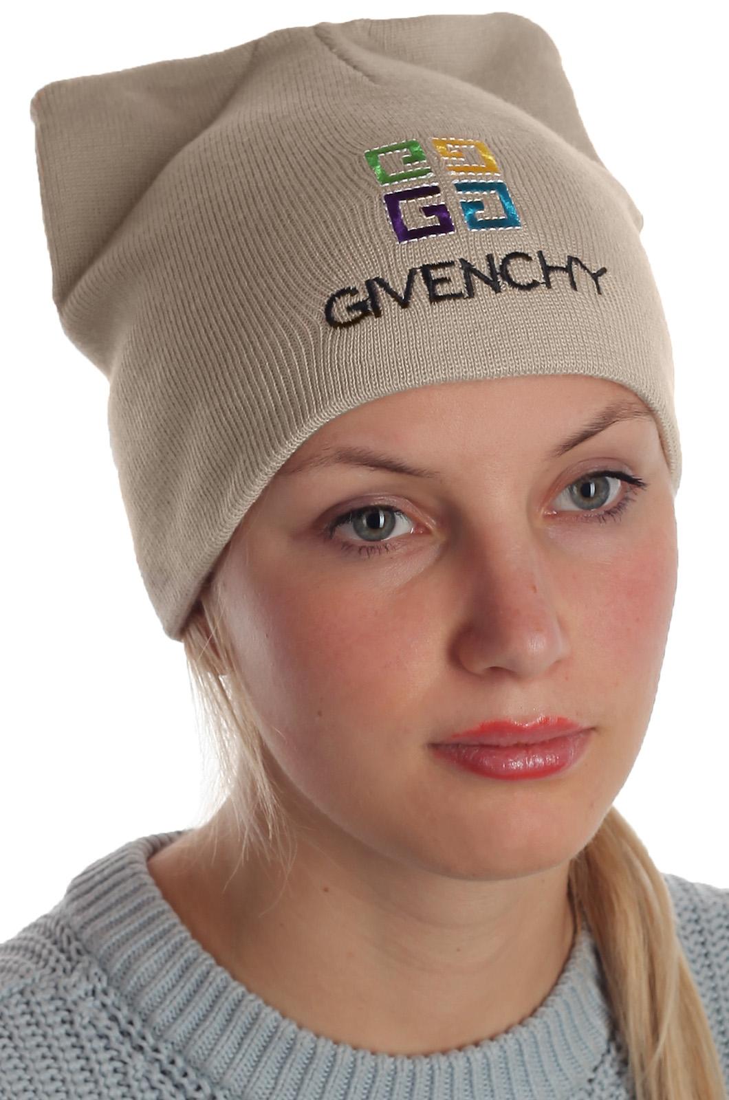 Стильная женская шапка от Givenchy. Отменный головной убор на каждый день. Красотки, заказывайте! Прямо из Франции!