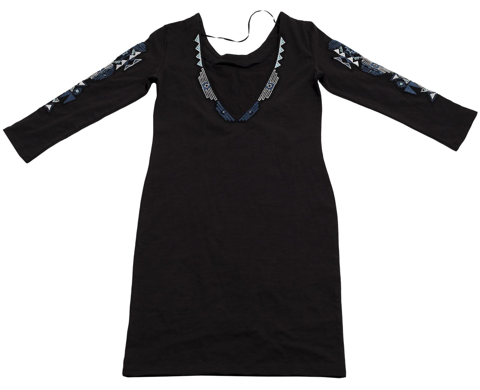 Купить стильное нарядное платье первоклассного качества с этно-мексиканским орнаментом по привлекательной цене