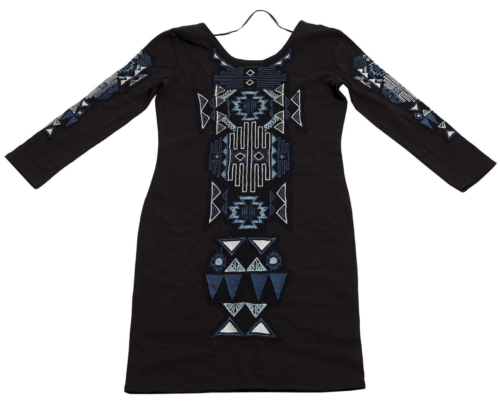 Стильное нарядное платье первоклассного качества с этно-мексиканским орнаментом