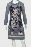 Стильное платье с оригинальным принтом