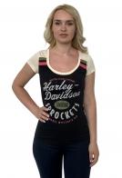 Стильная женская футболка Harley-Davidson