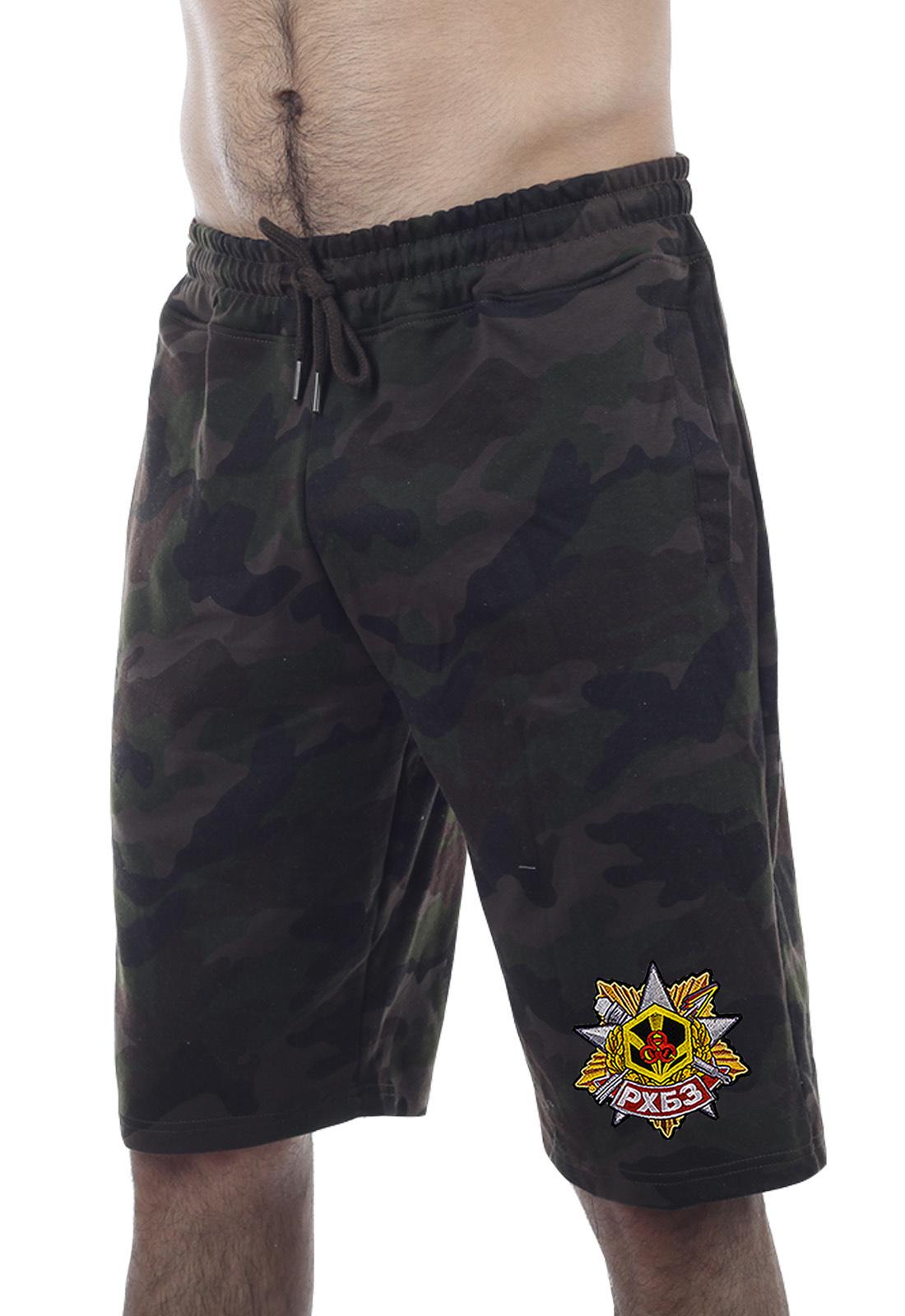 Купить стильные армейские шорты с нашивкой РХБЗ в подарок любимому