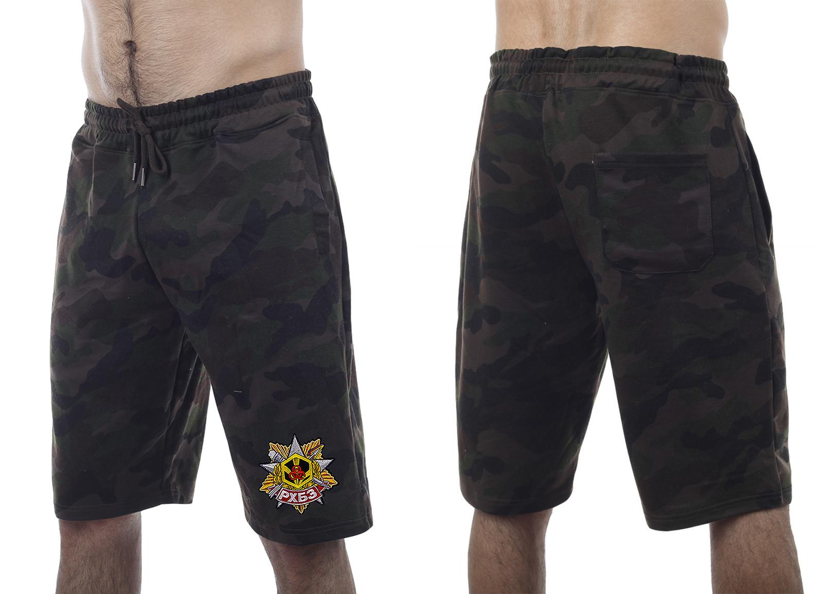 Стильные армейские шорты с нашивкой РХБЗ - купить по низкой цене