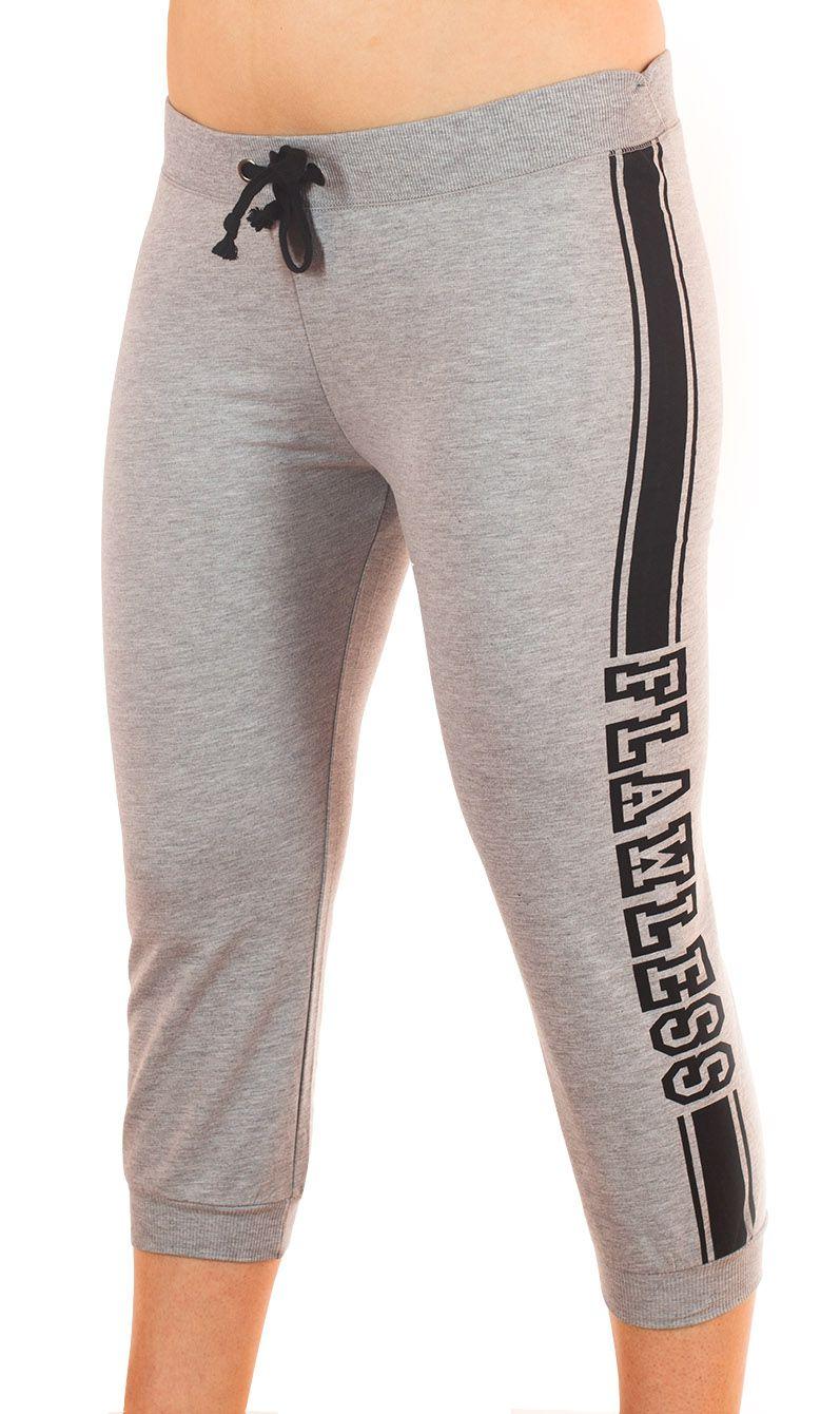 Стильные брюки капри Coco Limon для фитнеса - вид спереди