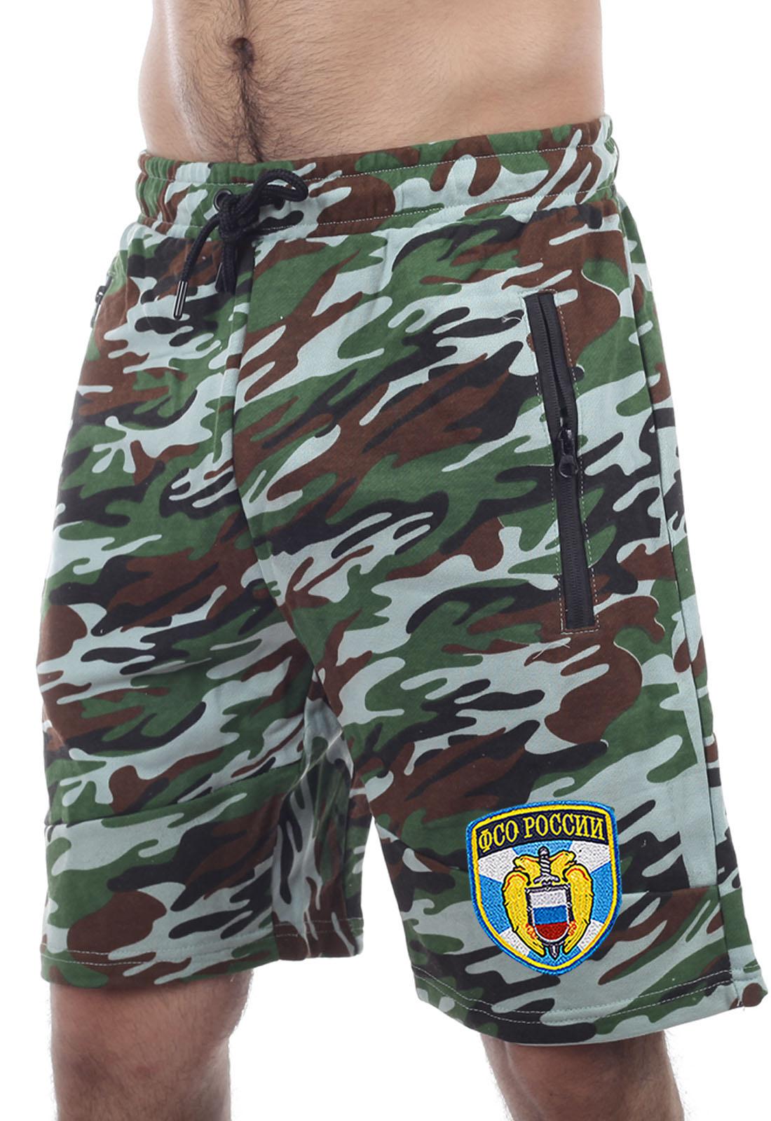 Купить стильные камуфлированные шорты с нашивкой ФСО с доставкой онлайн