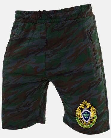 Стильные мужские шорты с эмблемой Погранслужбы купить выгодно