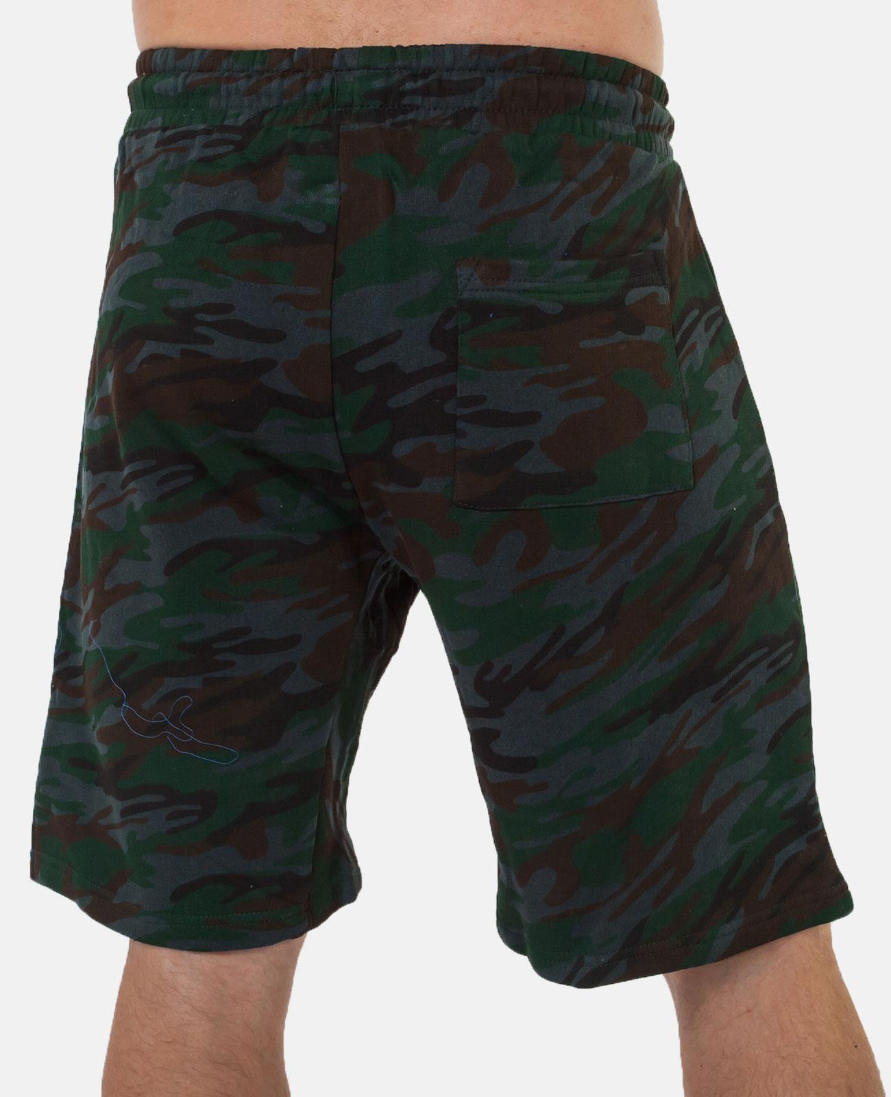 Стильные мужские шорты с эмблемой Погранслужбы купить оптом