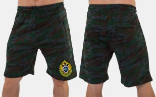 Стильные мужские шорты с эмблемой Погранслужбы купить в розницу