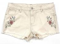 Стильные шорты женские с вышивкой
