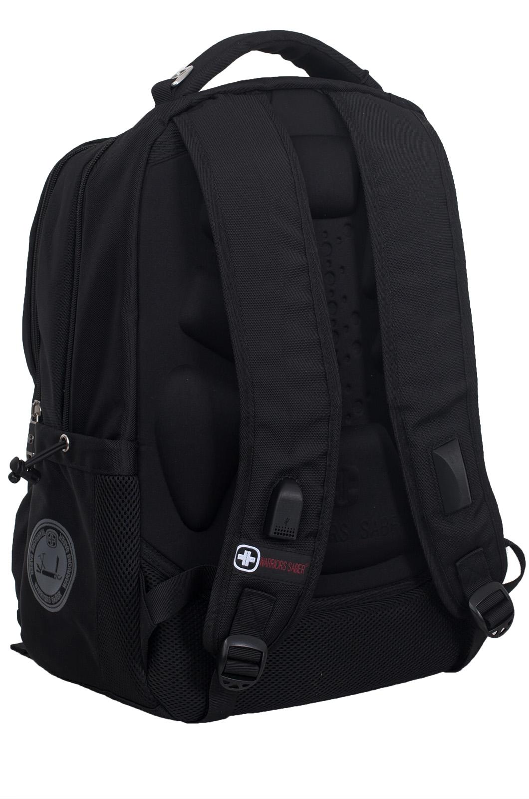 Купить стильный черный рюкзак ПОГРАНВОЙСКА с доставкой онлайн