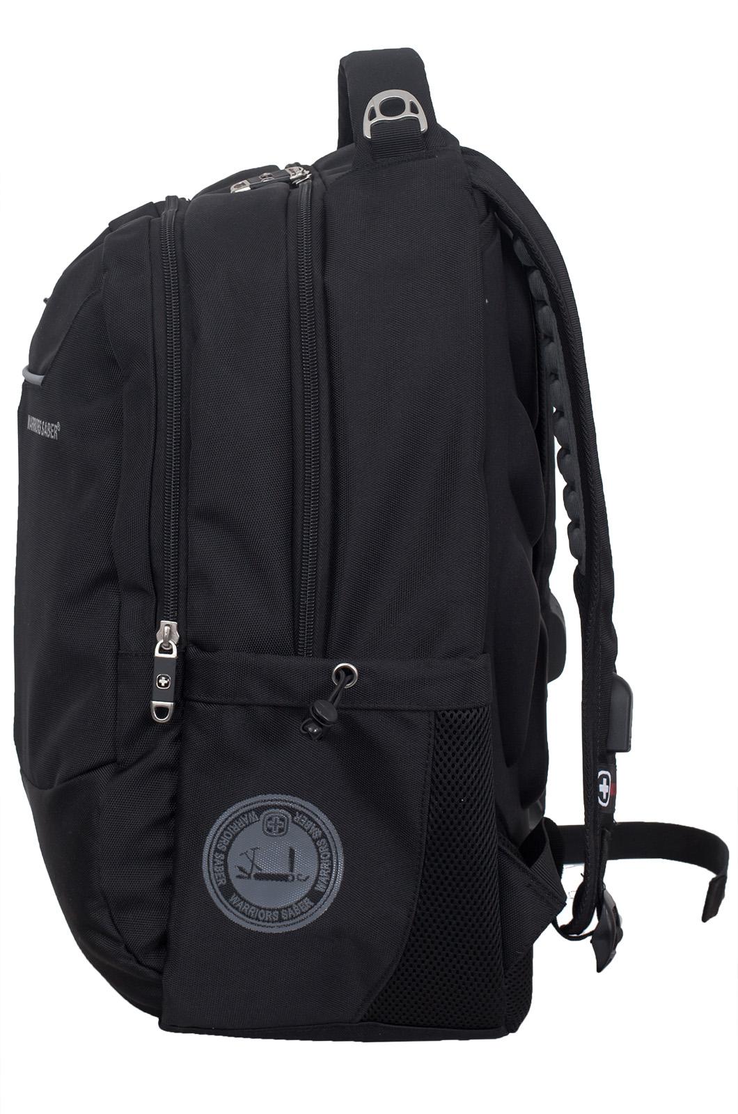 Стильный черный рюкзак ПОГРАНВОЙСКА - заказать в подарок