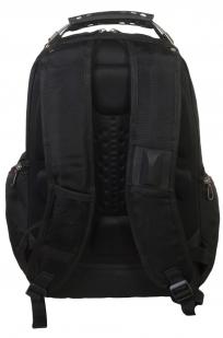Стильный черный рюкзак с нашивкой Спецназ ГРУ