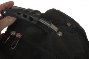 Купить стильный черный рюкзак с нашивкой Спецназ ГРУ