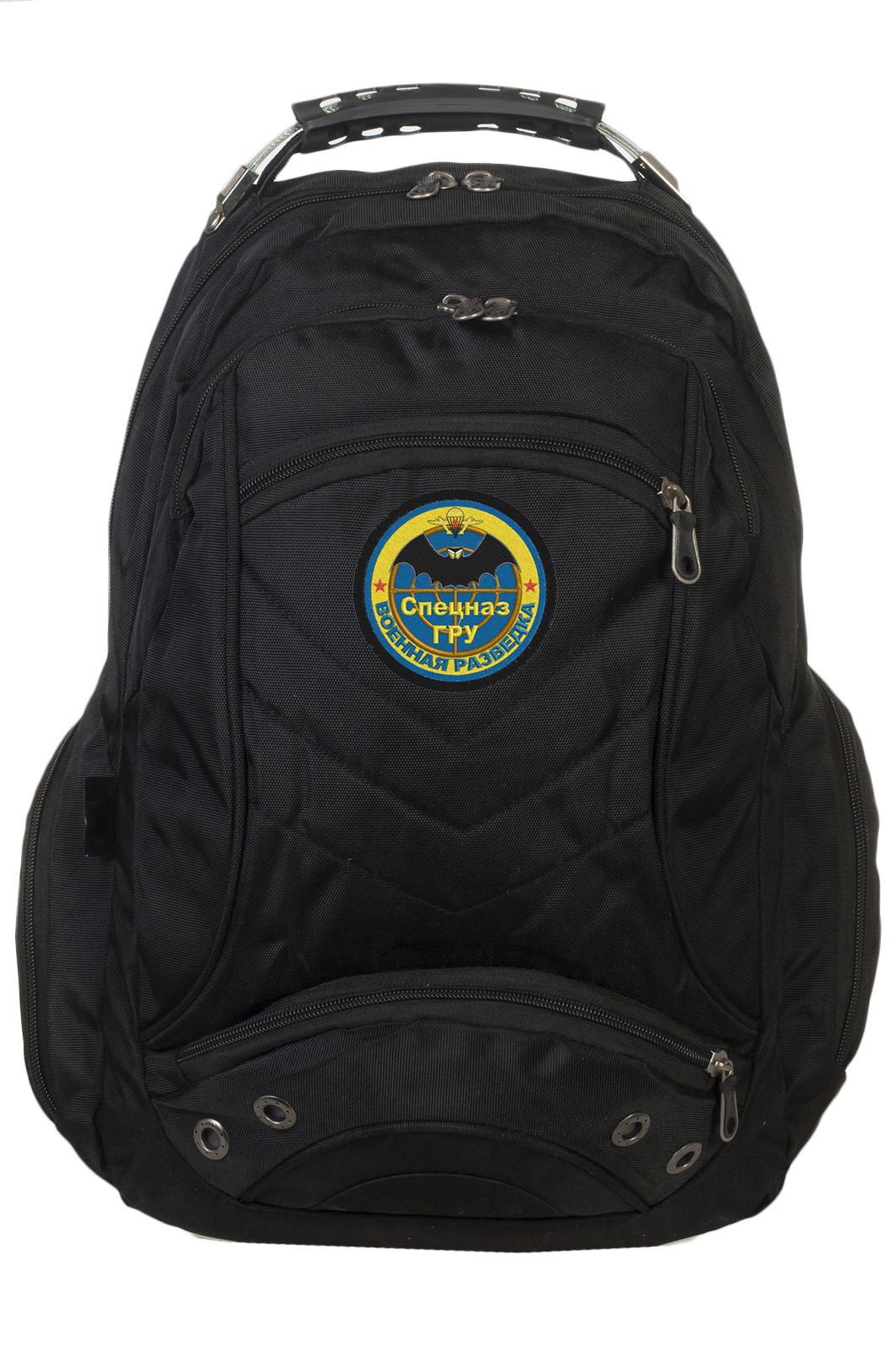Стильный черный рюкзак с нашивкой Спецназ ГРУ купить с доставкой