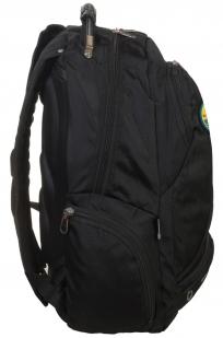 Стильный черный рюкзак с нашивкой Спецназ ГРУ купить по сбалансированной цене