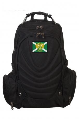 Стильный черный рюкзак с нашивкой Таможня