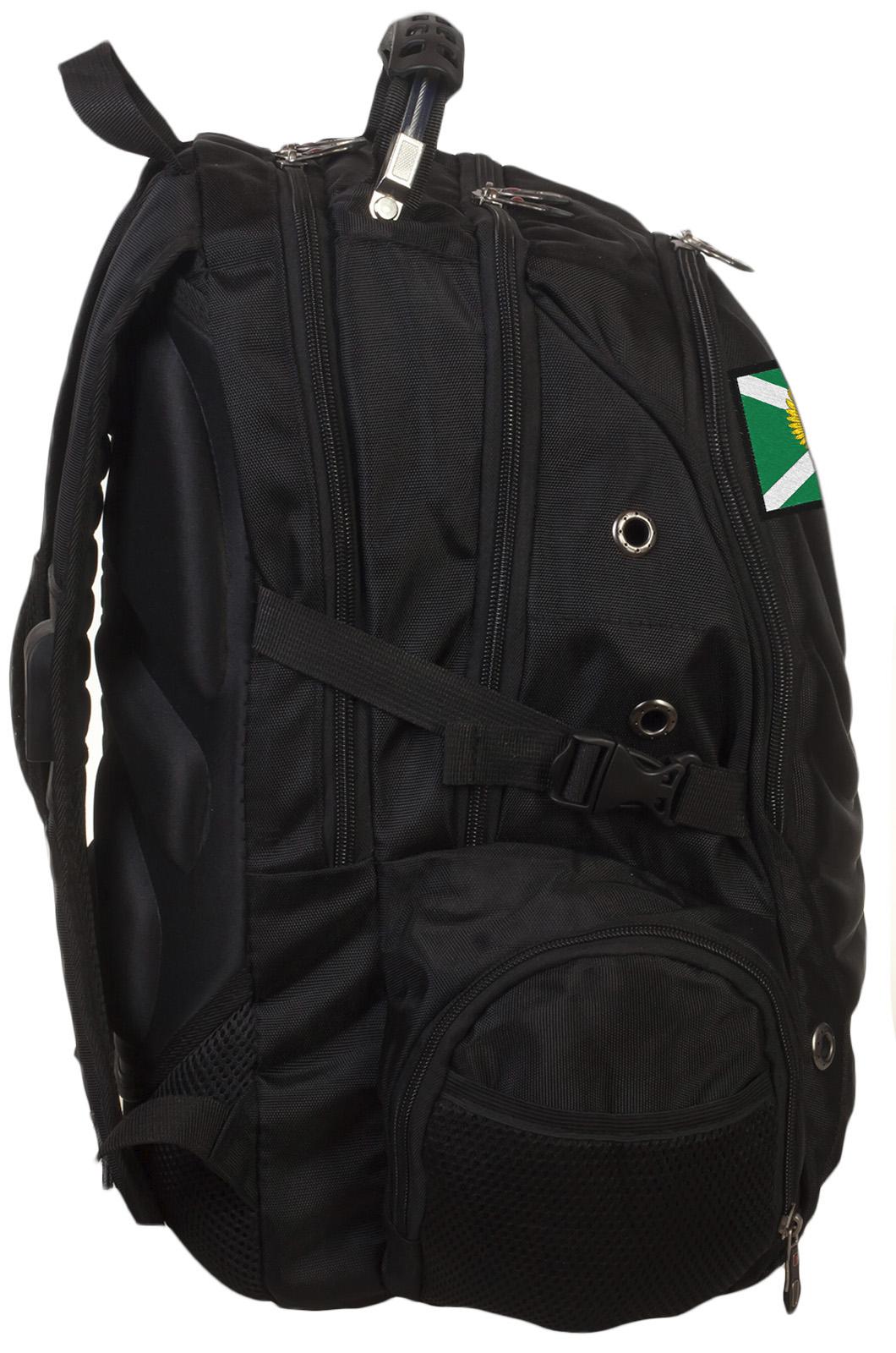 Стильный черный рюкзак с нашивкой Таможня - заказать в Военпро