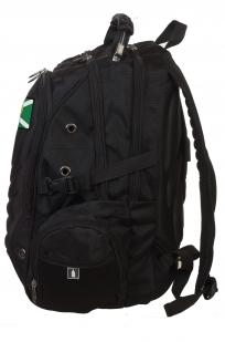 Стильный черный рюкзак с нашивкой Таможня - заказать в подарок