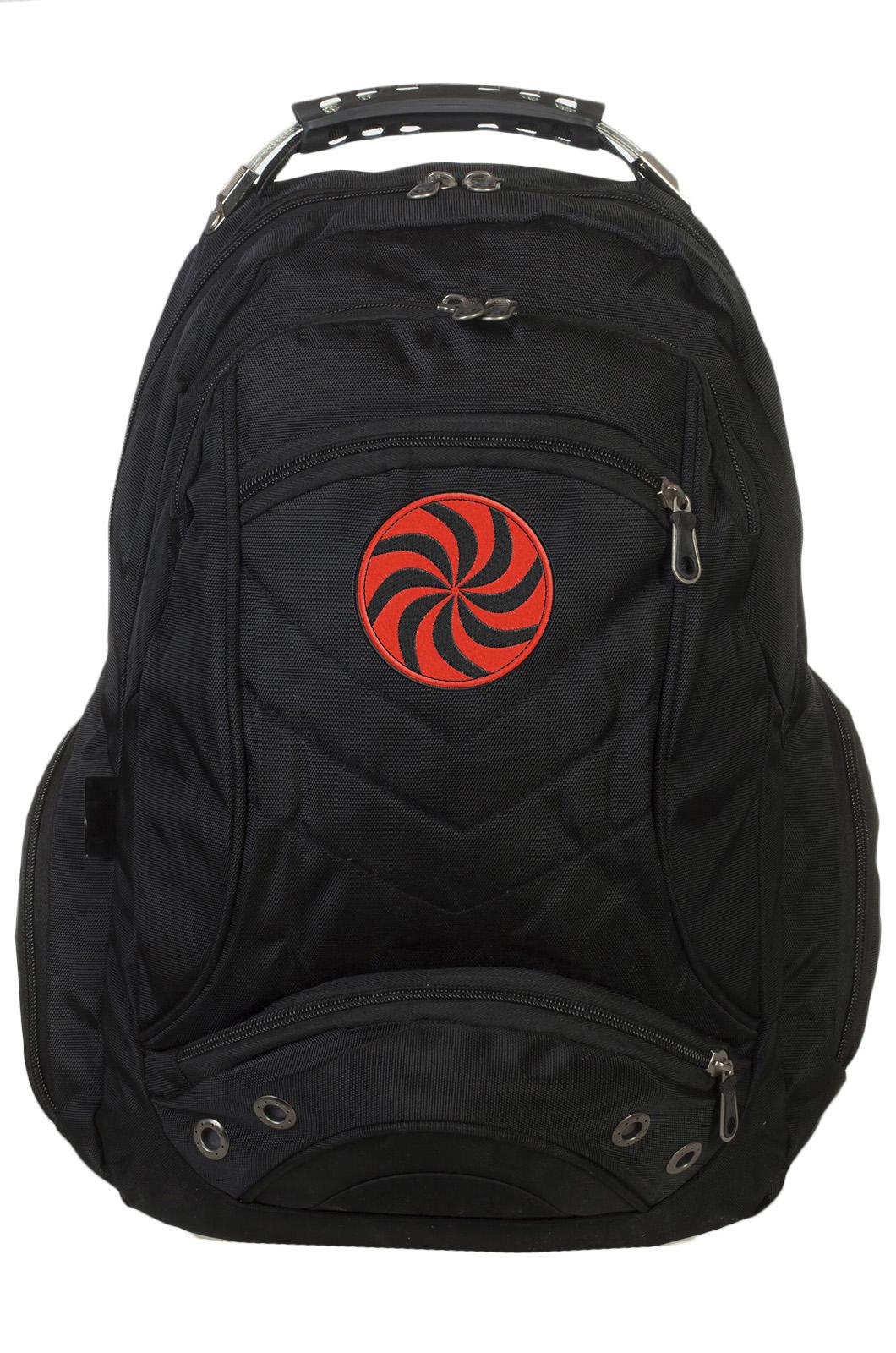 Стильный городской рюкзак с нашивкой Символ Даждьбога