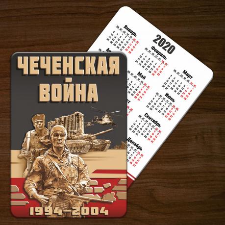 """Оригинальный календарик """"Чеченская война"""" (2020 год, 2019 год)"""